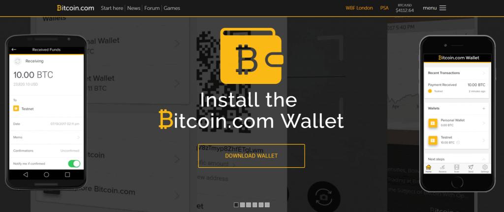 Echangez des bitcoins avec Bitcoin.com