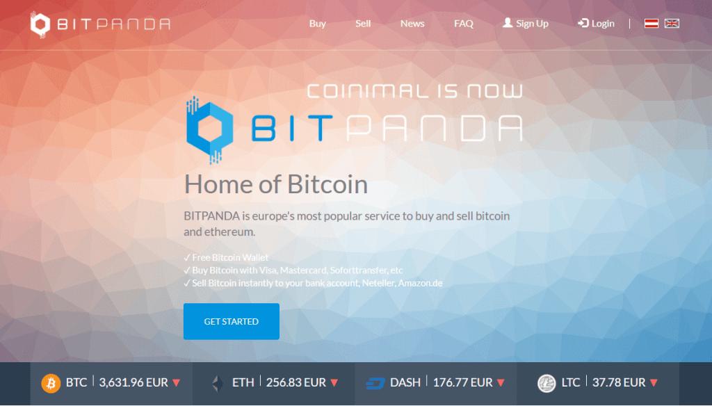 Exchange bitcoin with BitPanda