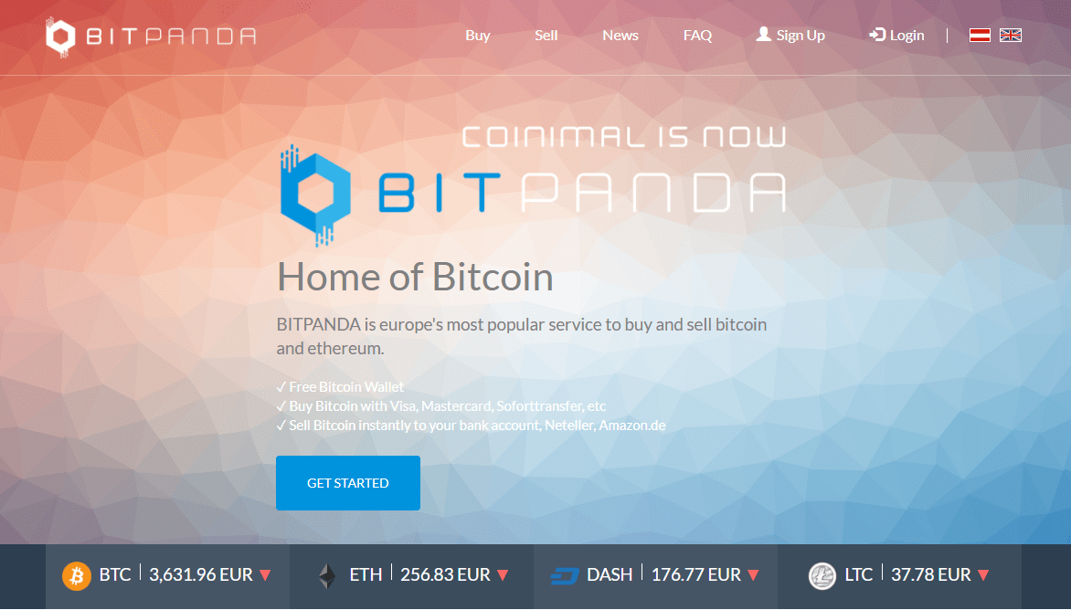 Exchange bitcoin with BitPanda