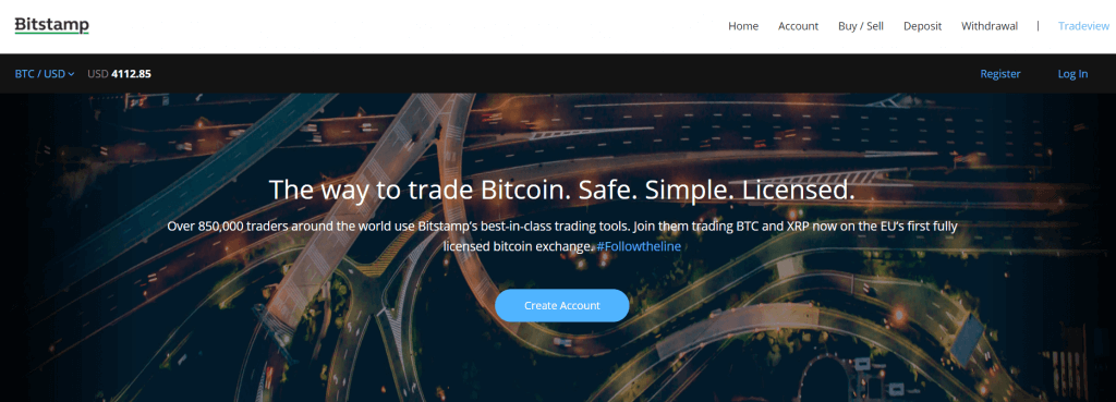 Exchange bitcoin with Bitstamp