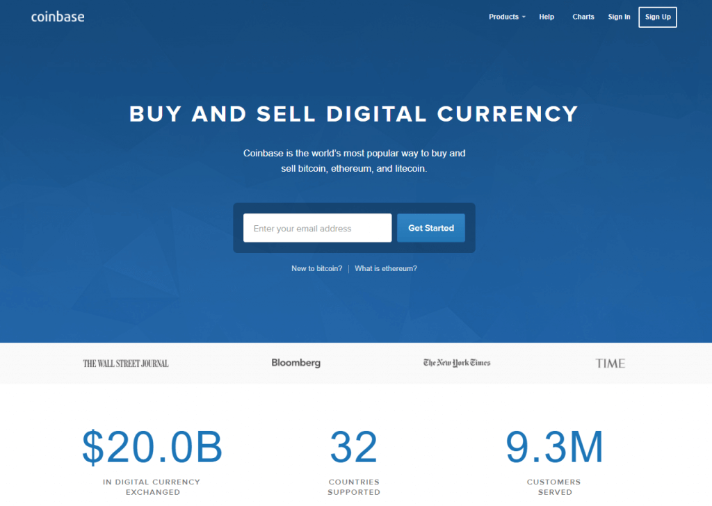 Exchange bitcoin with Coinbase