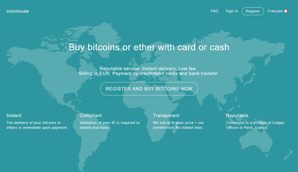 Échangez des bitcoins avec Coinhouse