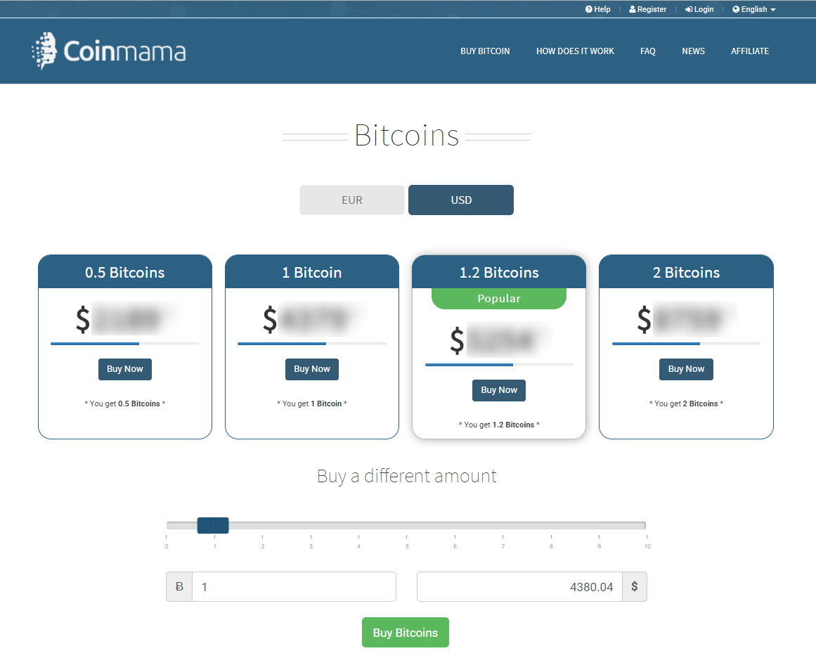 Exchange bitcoin with Coinmama