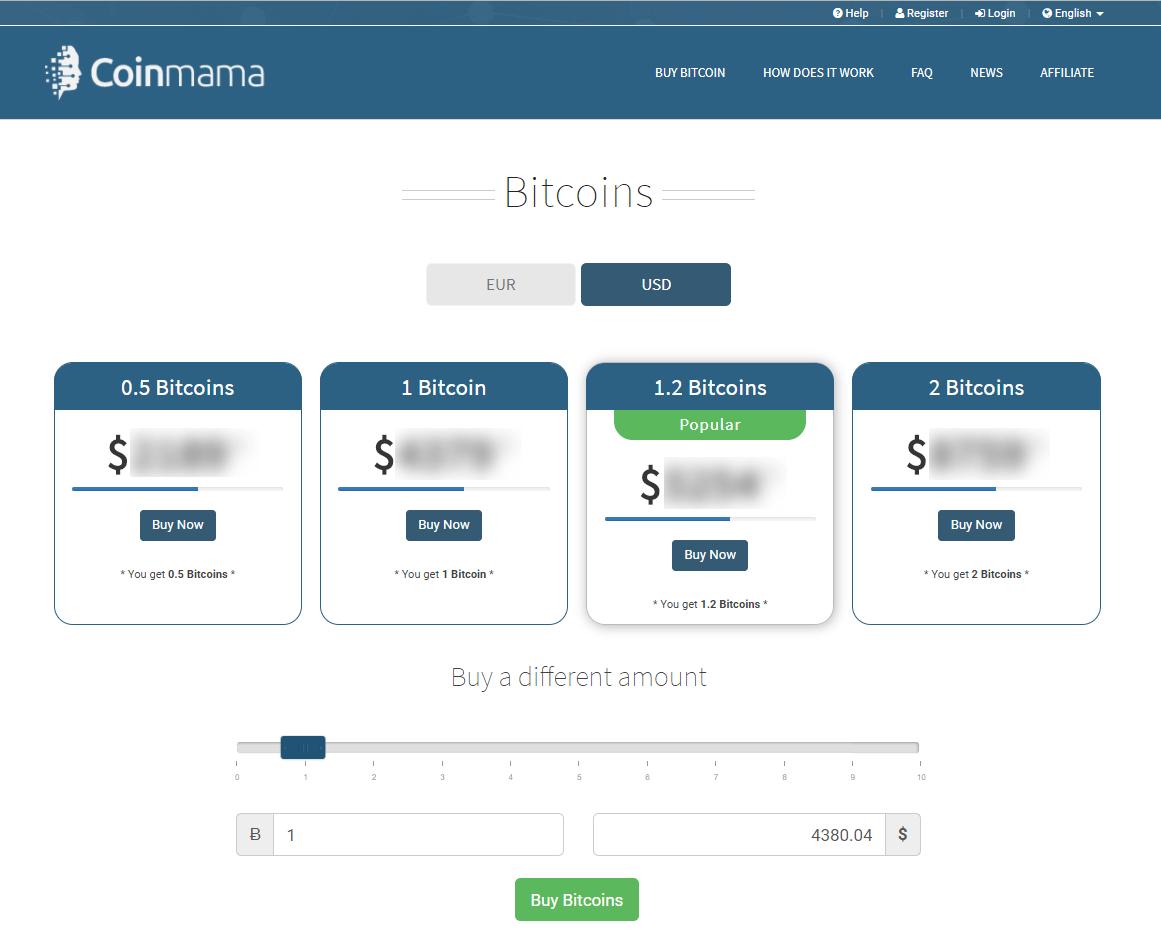 Echangez des bitcoins avec Coinmama