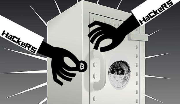 Hacker attacks on bitcoins