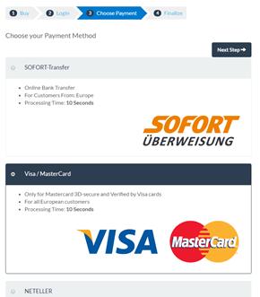 Add funds debit credit card BitPanda