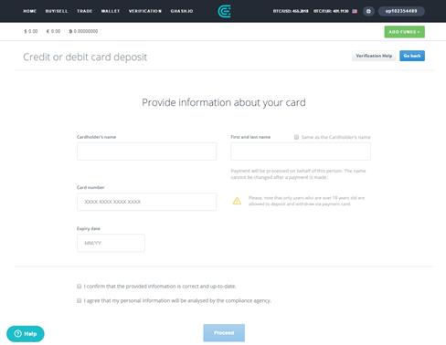 Comment obtenir BTC via CEX.io avec une carte de crédit ou de débit