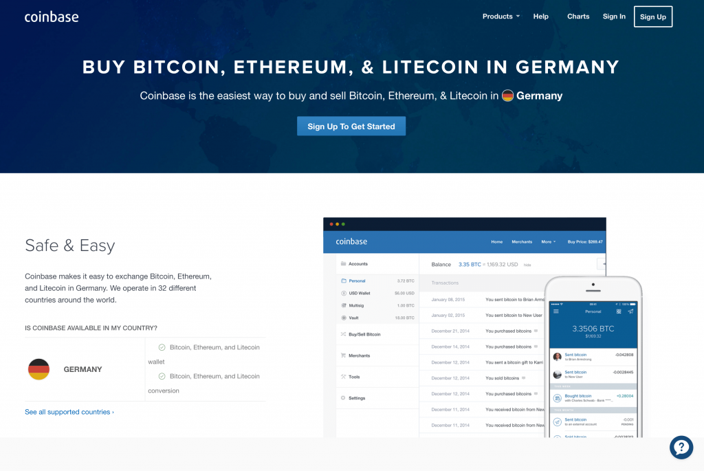 Order BTC in Germany