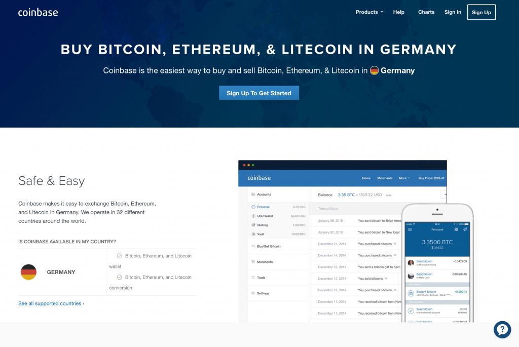 Order BTC in Germany
