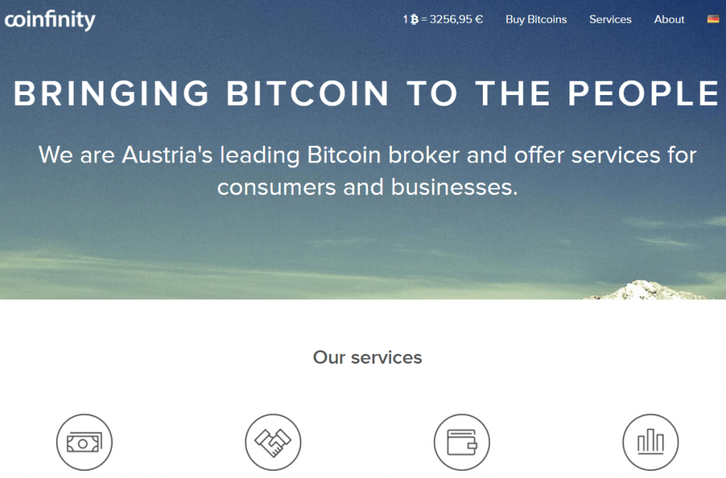 Bitcoin exchange broker Coinfinity