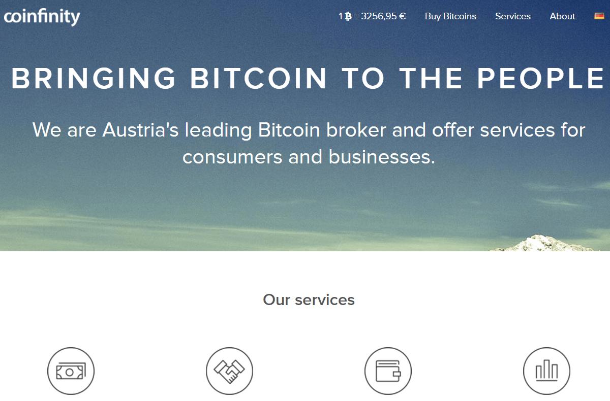 Bitcoin exchange broker Coinfinity