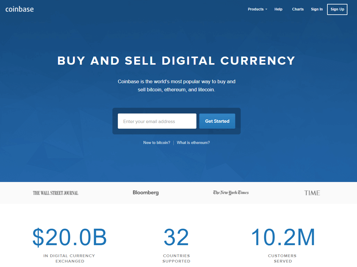 Buy bitcoins with ACH at Coinbase