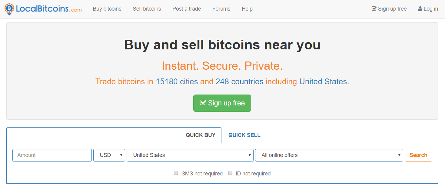 Buy BTC with Neosurf at LocalBitcoins