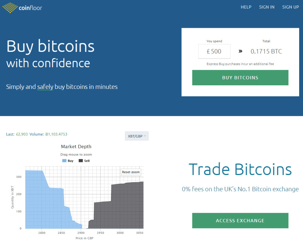 Get BTC at Coinfloor bitcoin exchanger