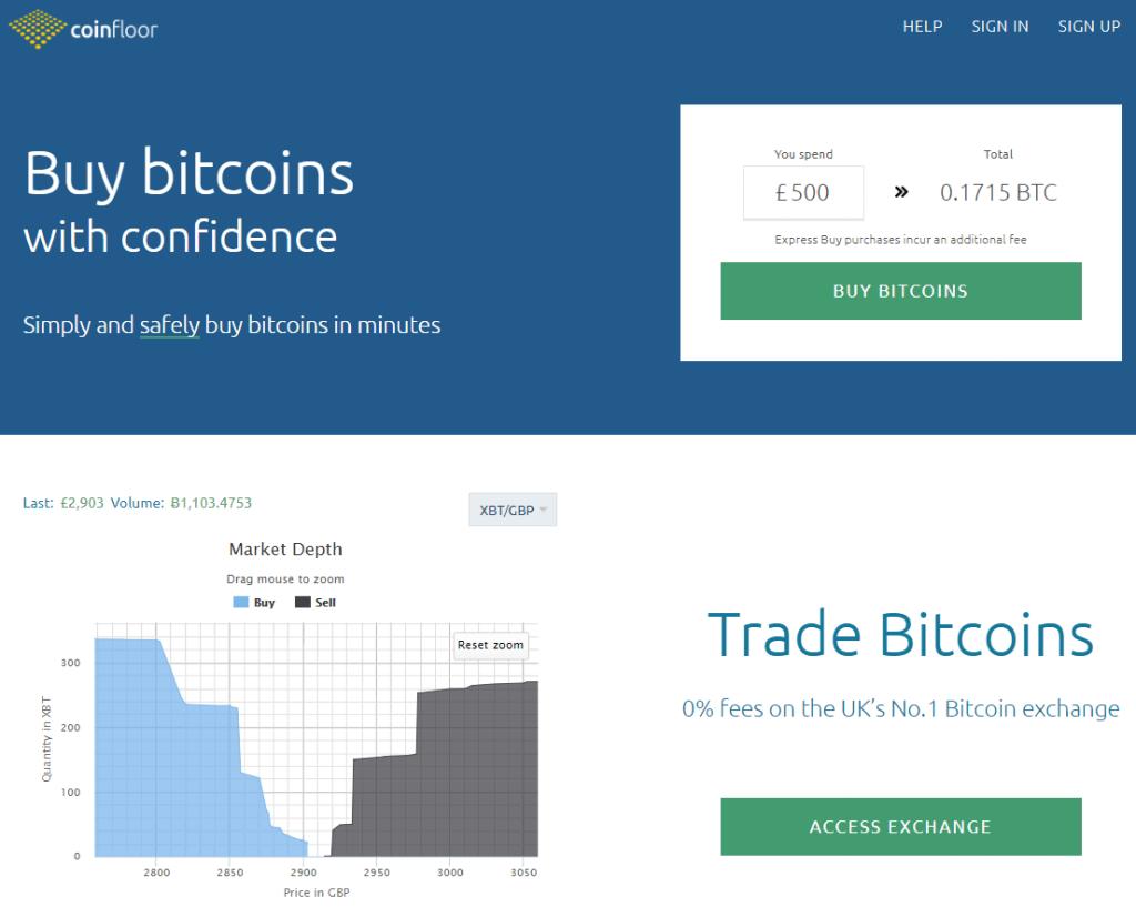 Get BTC at Coinfloor bitcoin exchanger