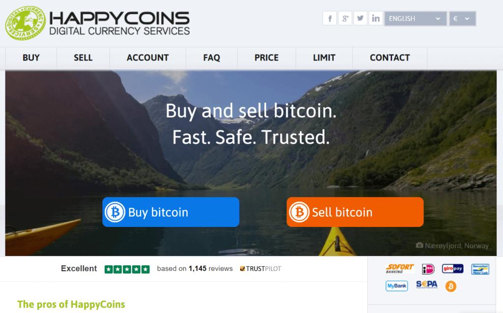 How to get BTC via SEPA on HappyCoins