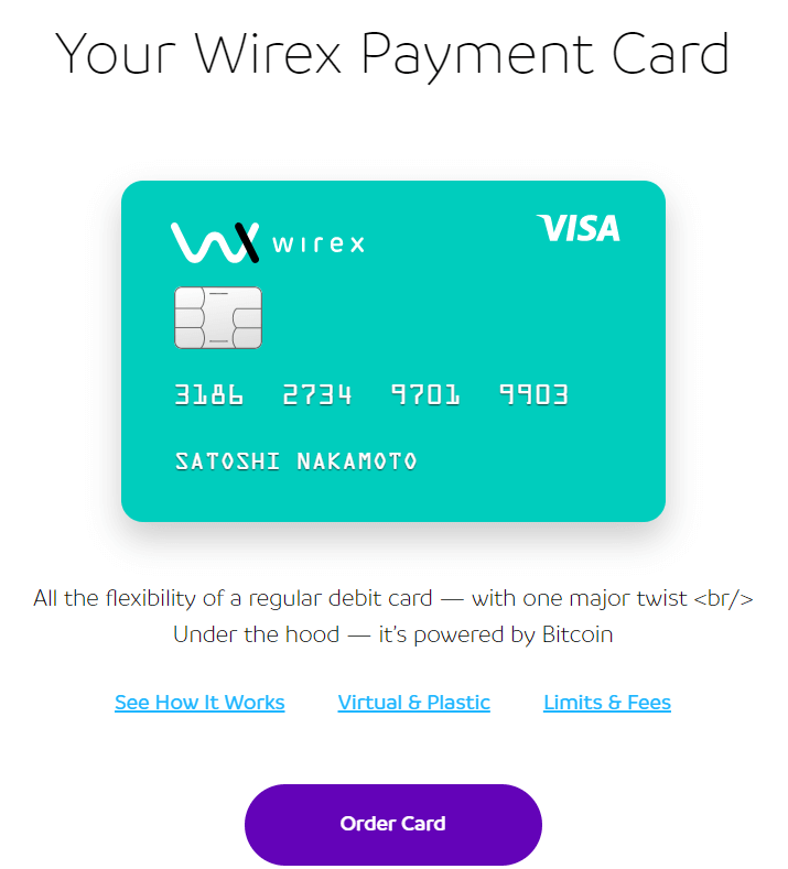 Order Wirex card