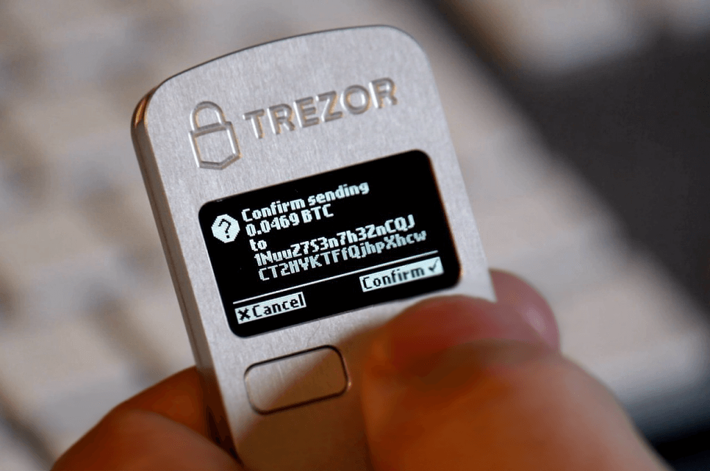 TREZOR wallet security with 24-word seed