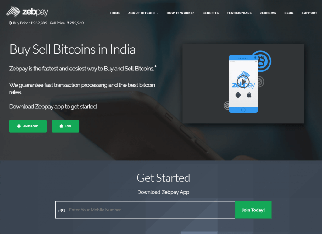 ZebPay bitcoin exchange