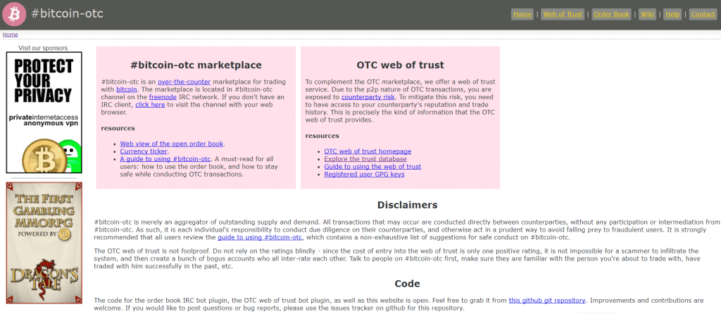 Bitcoin-OTC marketplace