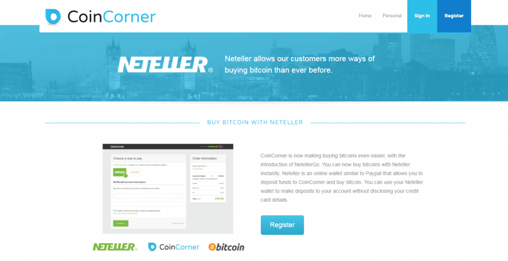 Bitcoin with NETELLER on CoinCorner