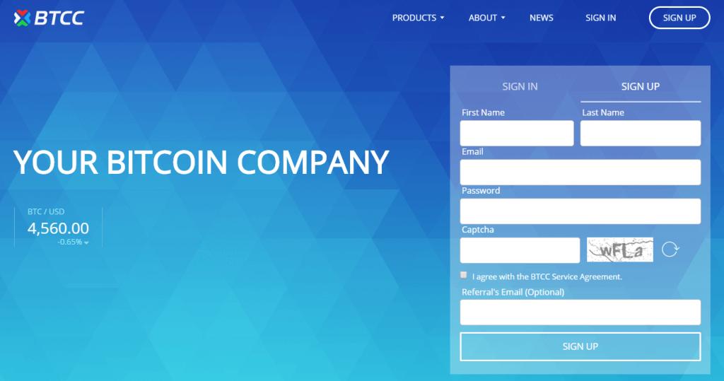 BTCC bitcoin company