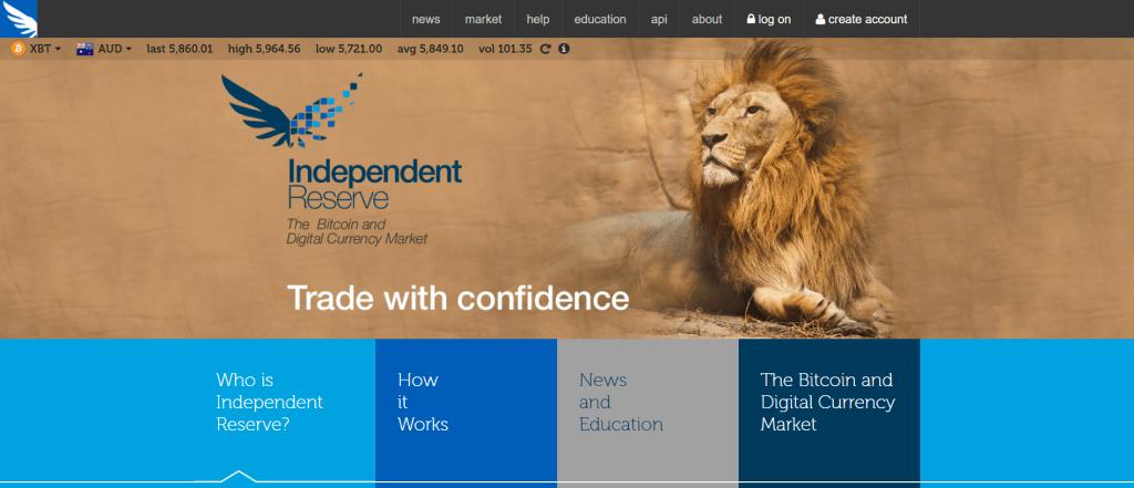 Independent Reserve bitcoin market