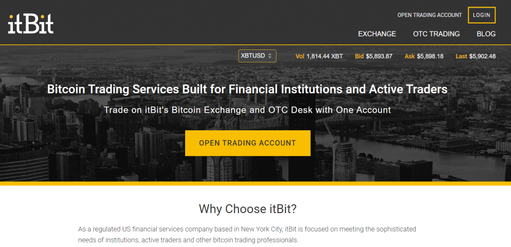 itBit bitcoin exchange