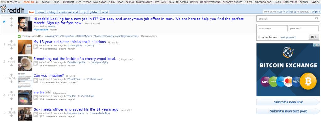 Reddit site