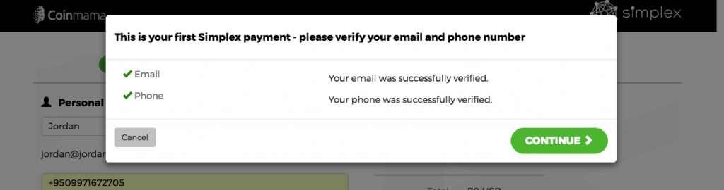 Verify your phone number and email