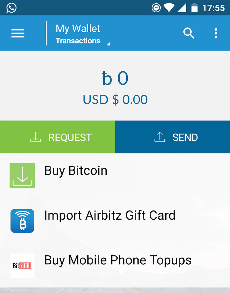 Account is registered on Airbitz