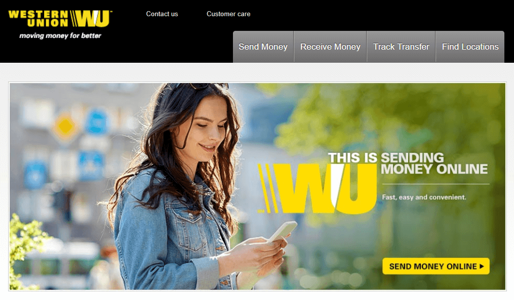Cash option available via Western Union