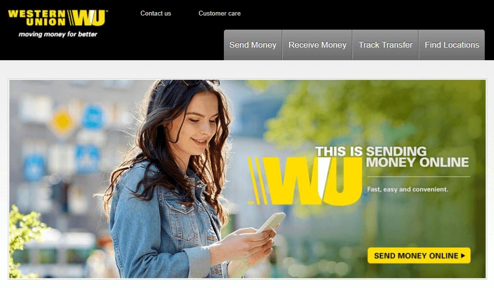 Cash option available via Western Union