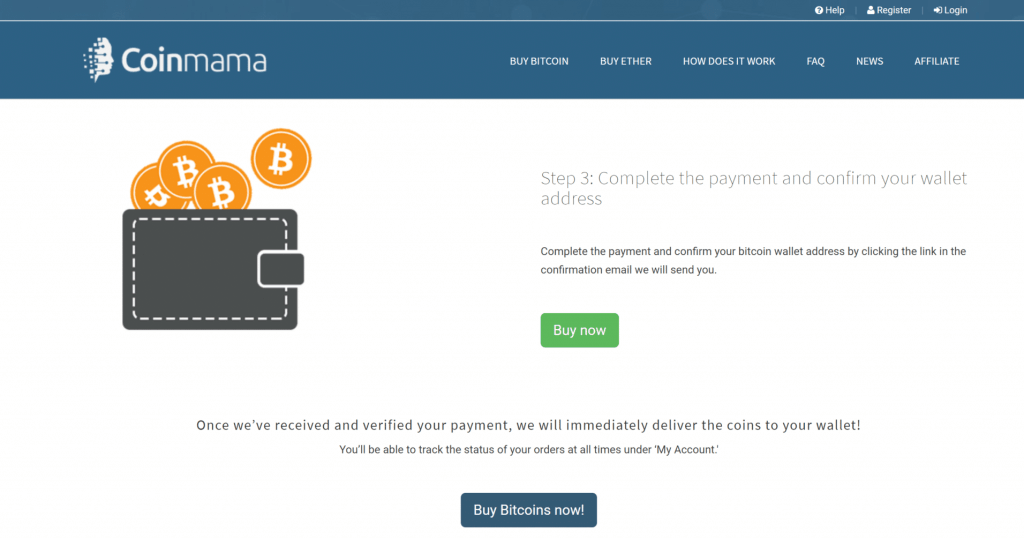 Coinmama doesn't have BTC wallet