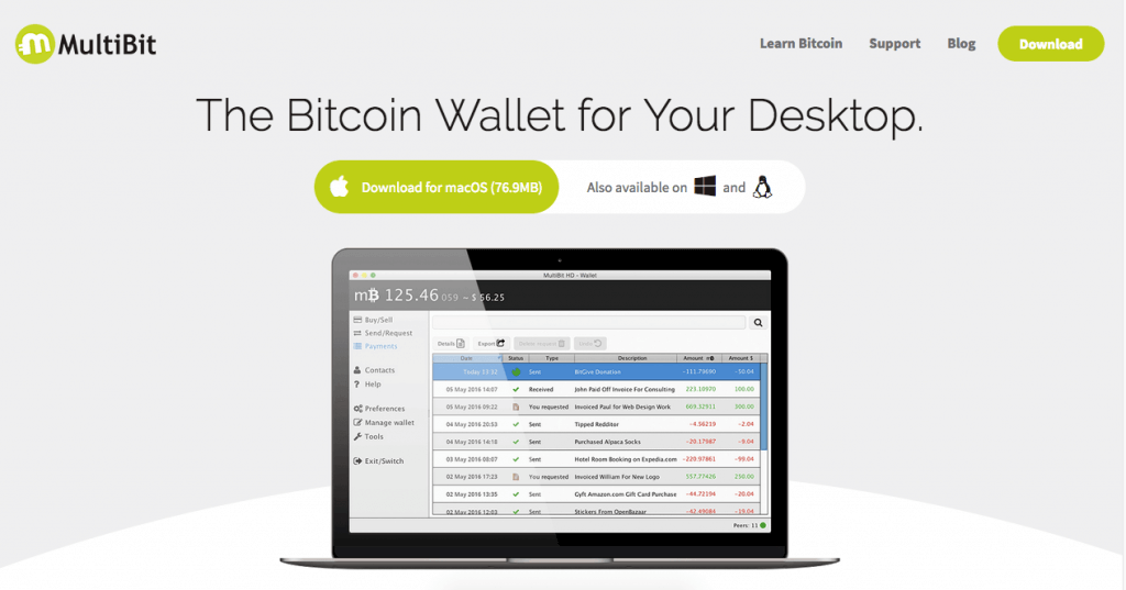 Desktop bitcoin wallet