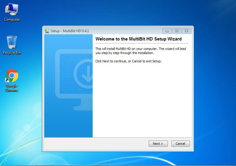 Download MiltiBit software to computer