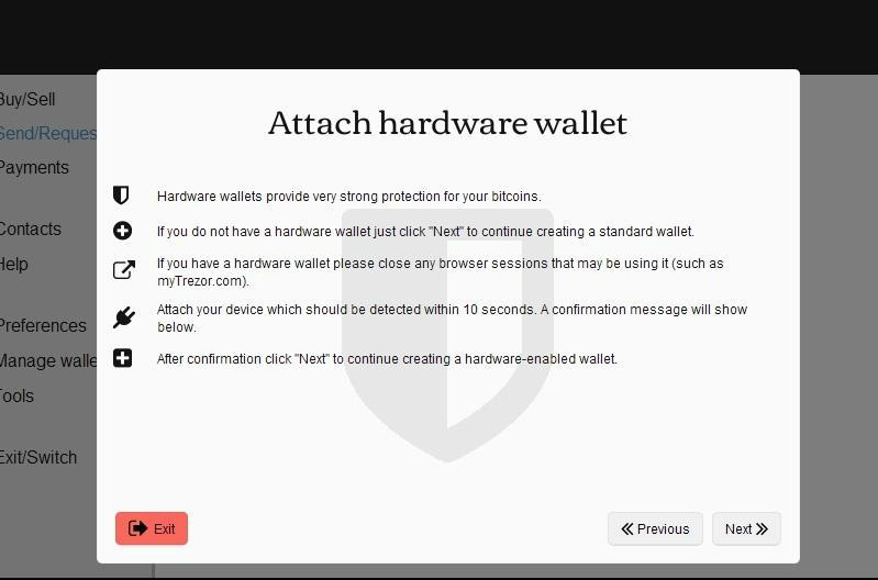 Information about attaching hardware wallet