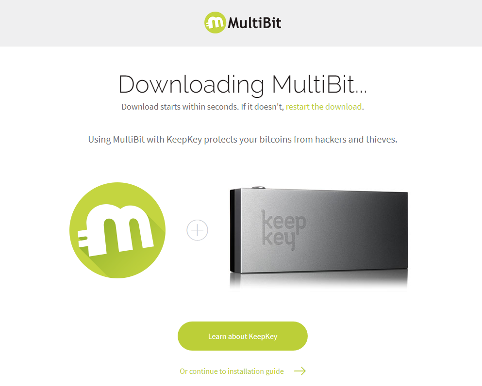 Installing MultiBit wallet