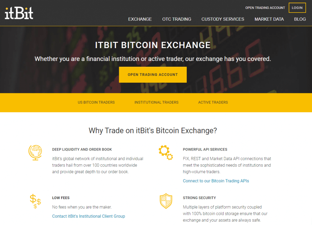 itBit exchange platform
