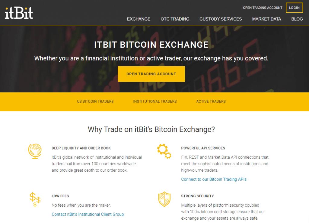 itBit exchange platform