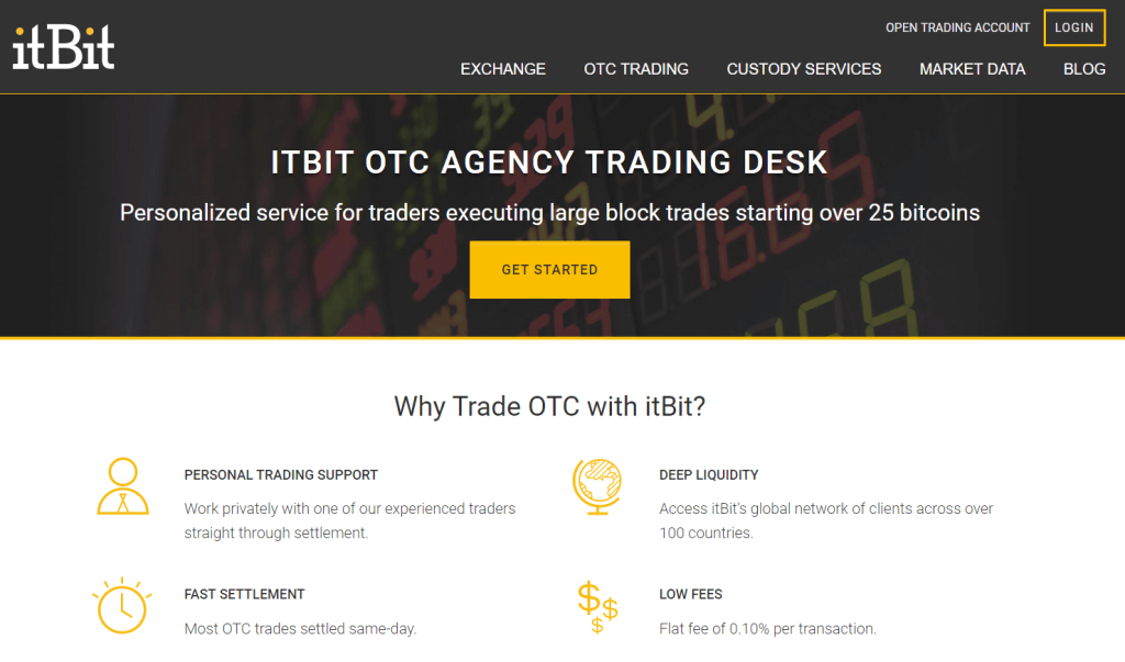 itBit OTC agency