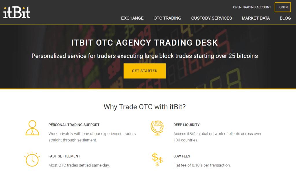 itBit OTC agency