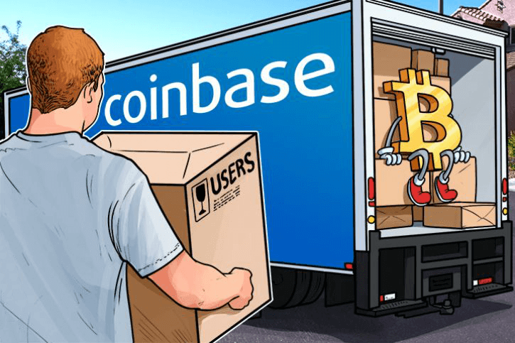 Order bitcoins at Coinbase exchange