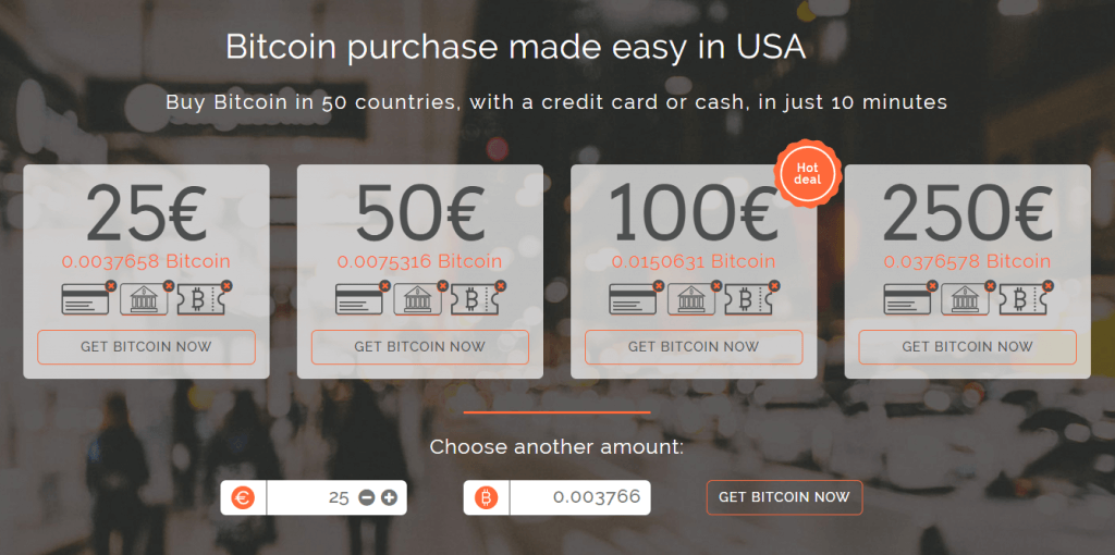 Select amount of bitcoins that to buy