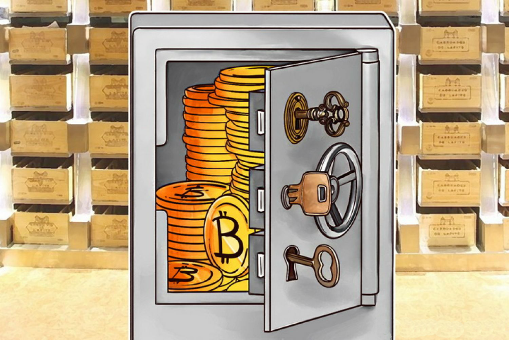 Store bitcoins safely in your account