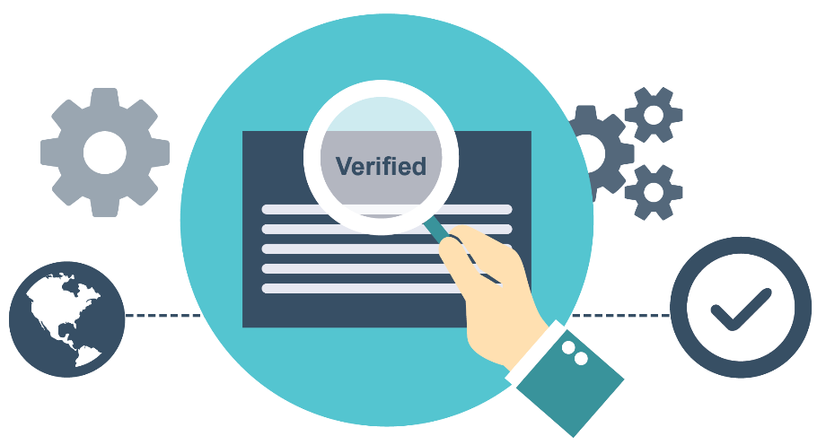 Verification process of an identity on exchange