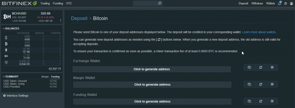 Bitfinex bitcoin wallets