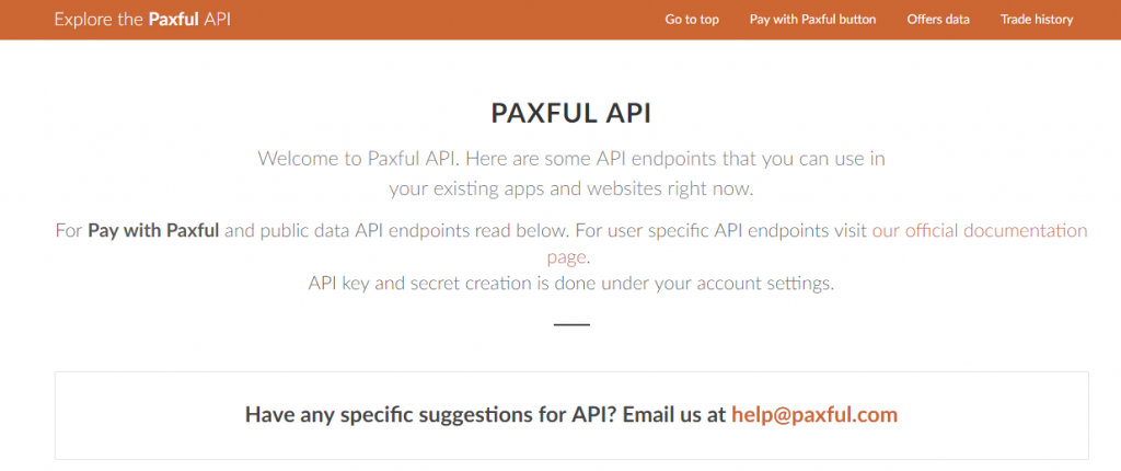 Paxful API