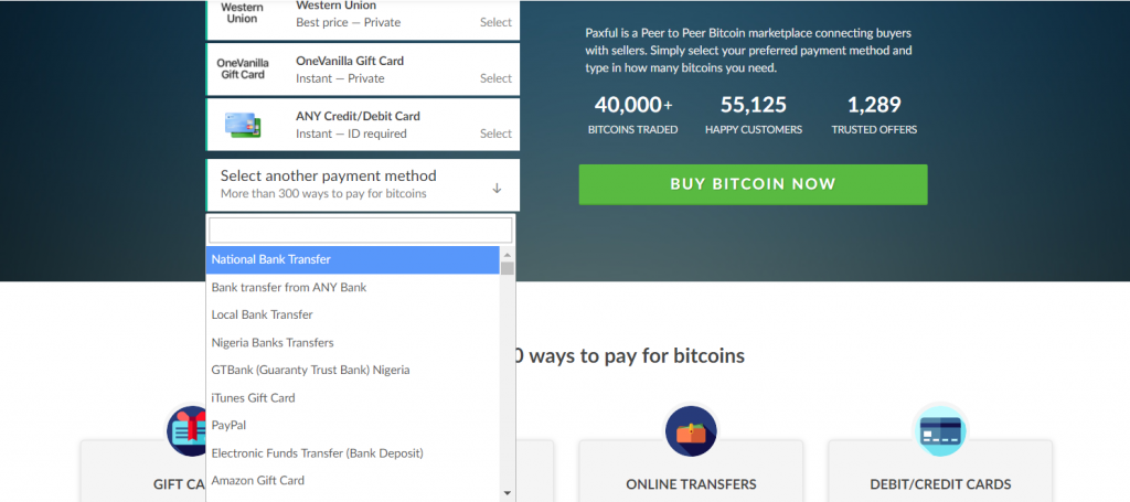 Paxful payment method