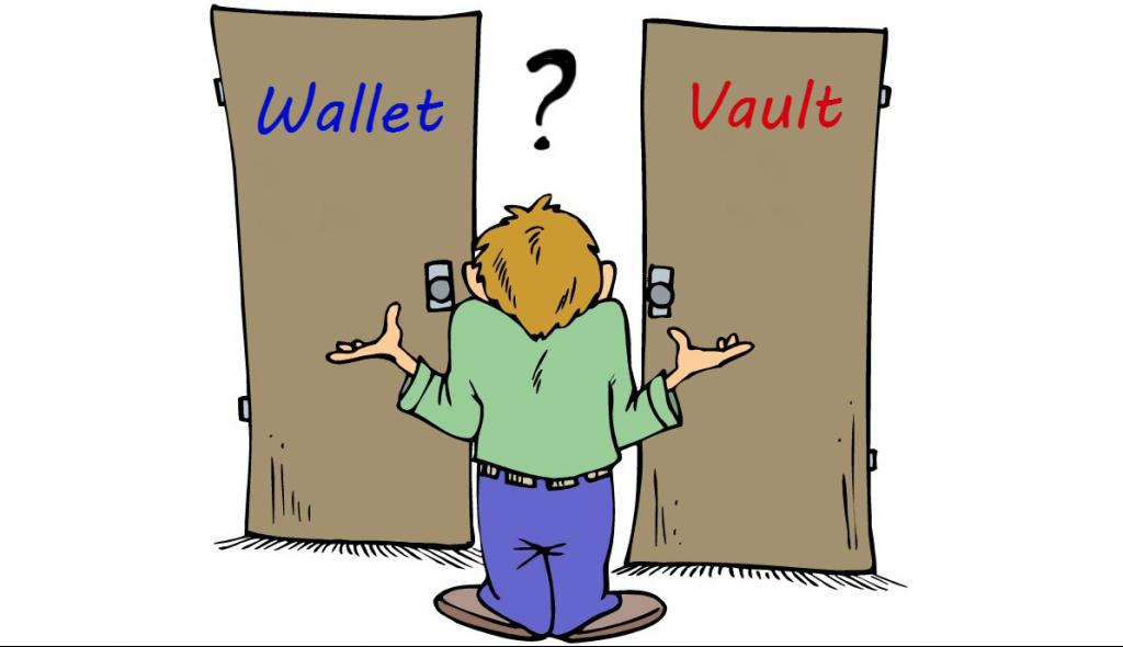 Wallet vs vault
